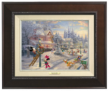 Mickey's Victorian Chrismtas Small Classic (Frame Choices)