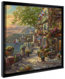 """French Riviera Cafe Framed Canvas Wrap 20""""x20"""""""