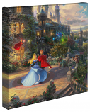 Sleeping Beauty Dancing in the Enchanted Light Canvas Wrap