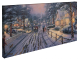 Hometown Christmas Memories Panoramic Canvas Wrap