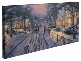 Hometown Christmas Memories Panoramic Canvas Wrap
