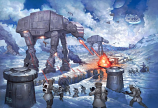 The Battle of Hoth Painting