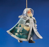 Family Holiday Gathering Santa Ornament