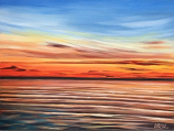 Tranquil Sky II Canvas Wrap