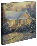 "Christmas Cottage Canvas Wrap 20""x20"""