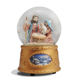 Holy Family Snow Globe