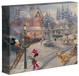 """Mickey's Victorian Christmas 8""""x10"""" Gallery Wrap"""