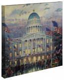 "Flags Over the Capitol Canvas Wrap 20""x20"""