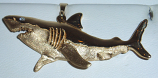 14K Gold & Diamond XL Great White Shark Charm