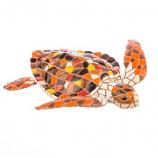 Mosaic Loggerhead Sea Turtle Figurine