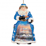Christmas Night Visit Santa Ornament