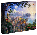 "Pinocchio Wishes Upon a Star 8""x10"" Gallery Wrap"