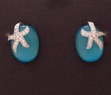 Cateye Starfish Earrings