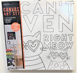 I Can't Even Cat Canvas Paint Kit