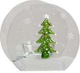 Christmas Tree Glass Votive Candle