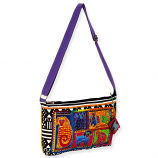 Dog Tails Patchwork Medium Crossbody