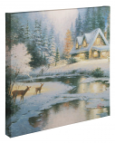 "Deer Creek Cottage Canvas Wrap 20""x 20"""