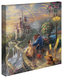 Beauty and the Beast Falling in Love Canvas Wrap