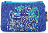 Indigo Cats Cosmetic Bag