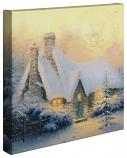 "Christmas Tree Cottage Canvas Wrap 20""x20"""