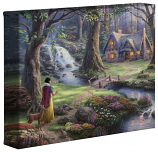 "Snow White Discovers the Cottage 8""x10"" Gallery Wrap"