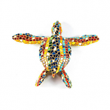 Mosaic Sea Turtle Multi Color Figurine