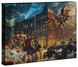 The Dark Knight Saves Gotham City Canvas Wrap