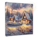 "Christmas Lodge 14""x14""Canvas Wrap"