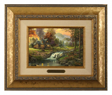 Mountain Retreat Framed Brushwork (Frame Choices)