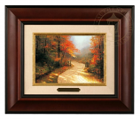 Autumn Lane Brushwork - Three Frame Choices