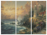The Light of Peace Triptych Canvas Wrap