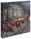 "Here Comes Santa Claus 14""x14"" Canvas Wrap"