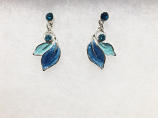 Blue Leaves Earrings