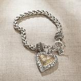 Two Tone Heart Bracelet