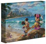 "Mickey & Minnie In Hawaii 8""x10"" Gallery Wrap"