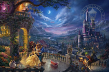Beauty and the Beast Dancing in the Moonlight Painting