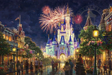 Main Street, U.S.A. Walt Disney World Resort Painting