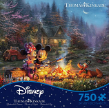 Mickey and Minnie Sweetheart Campfire Puzzle