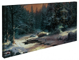 Winter's End Panoramic Canvas Wrap