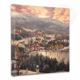 Sunset on Snowflake Lake Canvas Wrap