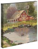 "Red Barn Retreat 14""x14"" Gallery Wrap"